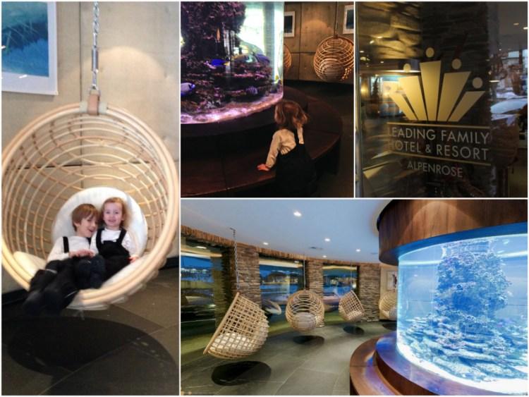 Leading Family Hotel & Resort Alpenrose: Lobby mit Aquarium
