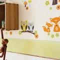 Mit dem Trend gehen: Eulen UND Füchse als Kinderzimmerdekoration