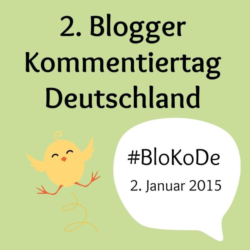Offizielles Logo zum 2. Blogger Kommentiertag Deutschland mit Hashtag #BloKoDe