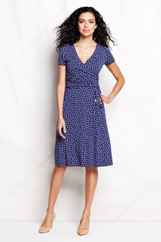 Kleid mit Wickeloptik als Stillkleid von Lands' End