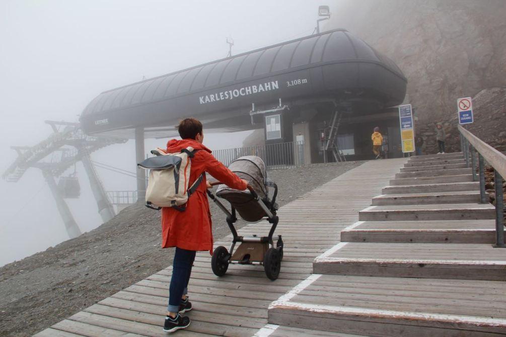 Mit dem Kinderwagen auf den Gletscher im Kaunertal