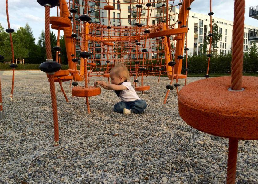 Kinderspielplatz in der Nähe des Motel One München-City-Süd