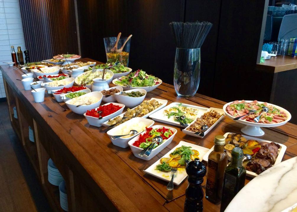 Sieht lecker aus: Das Antipasta-Buffet im Motel One Restaurant