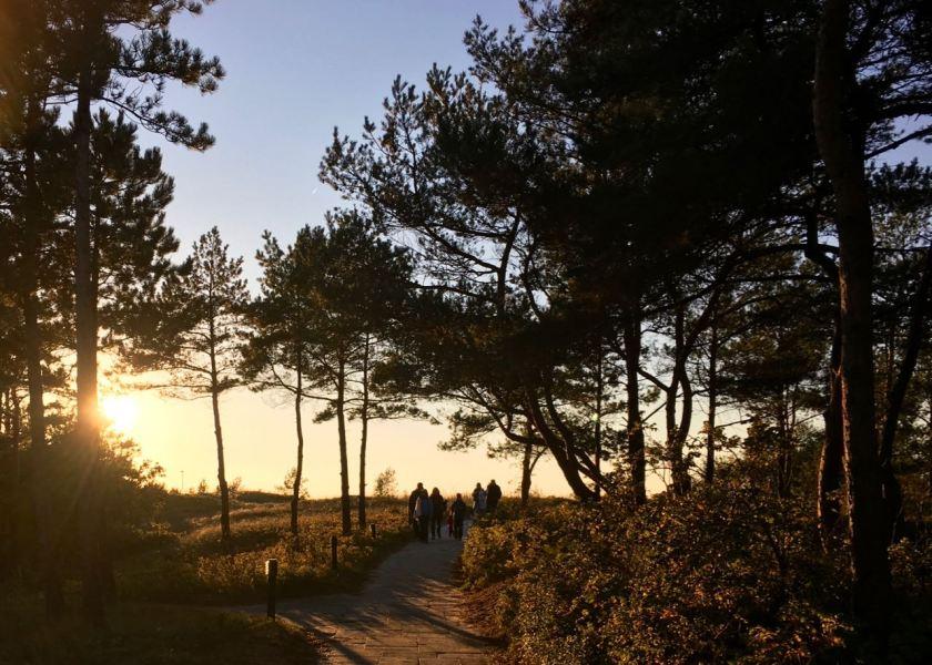 Zum Sonnenuntergang schnell noch an den Strand!