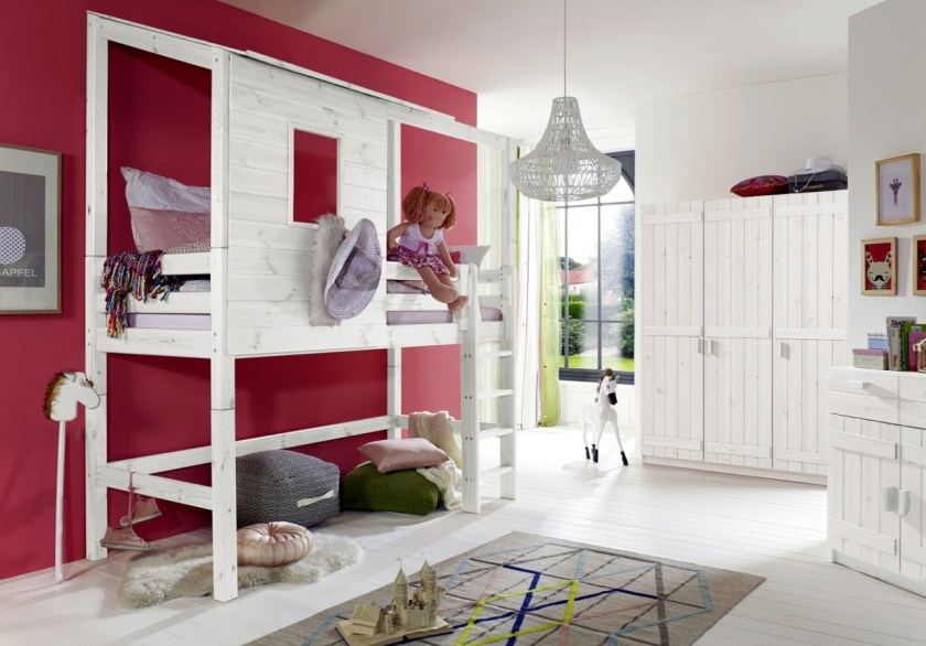 ein h ttenbett f rs kinderzimmer sooo viel inspiration. Black Bedroom Furniture Sets. Home Design Ideas