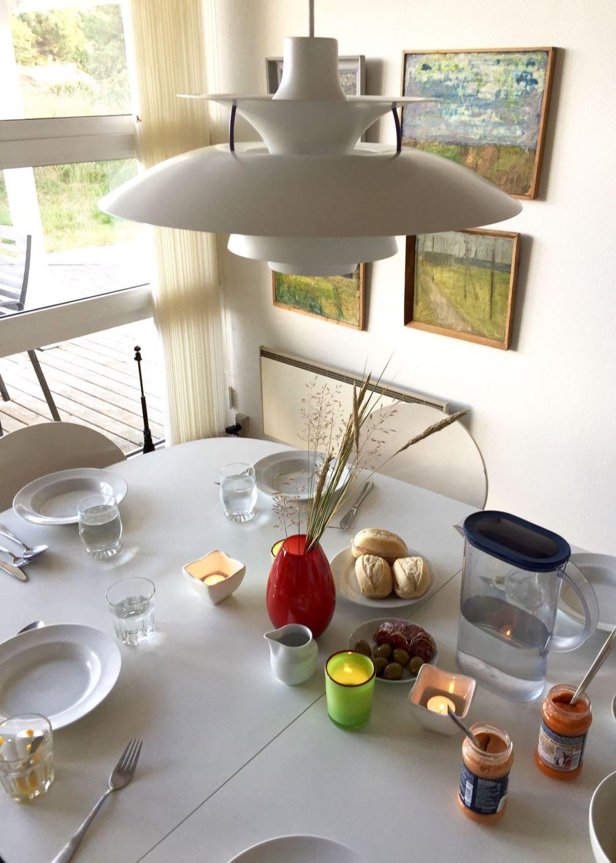 Unser Ferienhaus auf Fanø: Kerzen müssen mit auf den Tisch