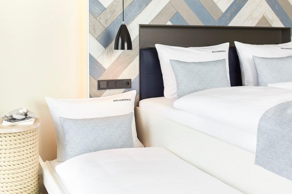 Aufbettung, Doppelzimmer Komfort im familienfreundlichen Hotel Küstenperle in Büsum