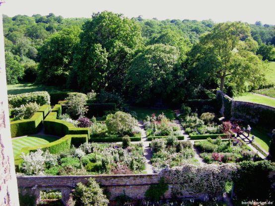 Blick auf den Rosengarten
