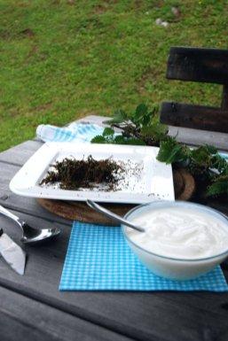 Ich rühre die Samen der Brennessel gern in Joghurt