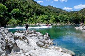 Die Buller Gorge, die Schlucht des Südinselflusses Buller, lädt zu den in Neuseeland häufig angebotenen Action-Aktivitäten