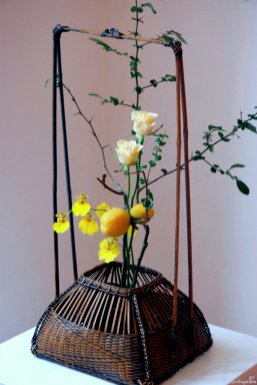 Detail traditionelles Ikebana