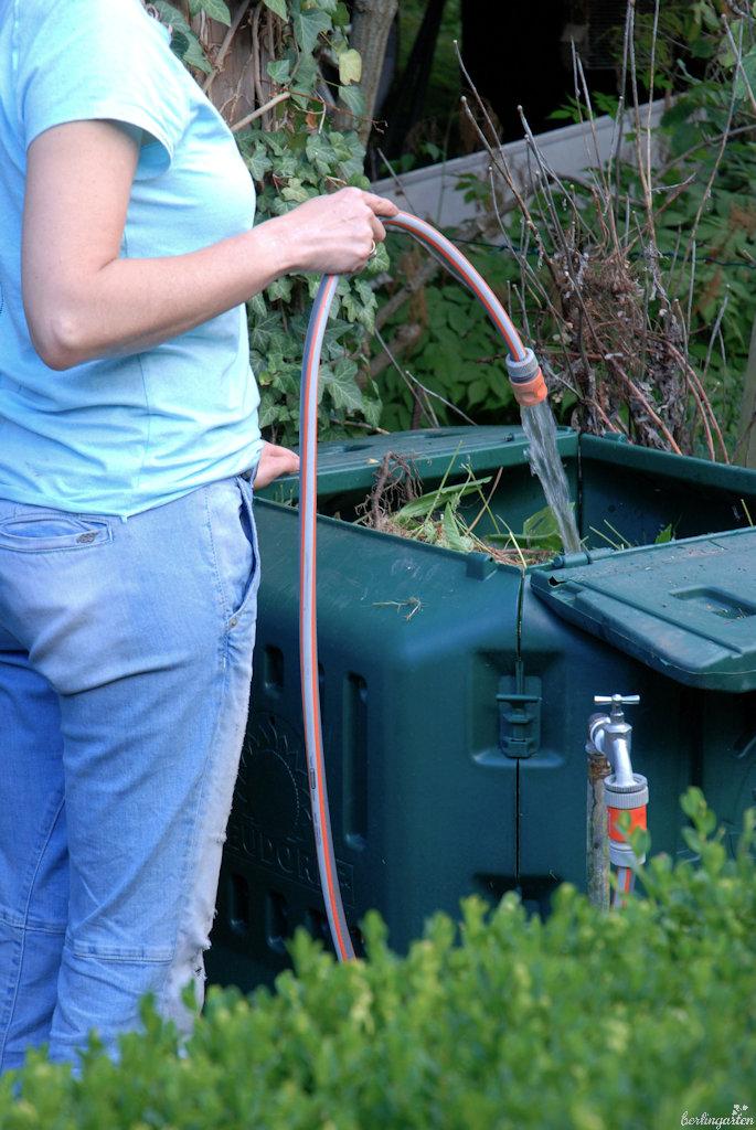 Kompost wässern