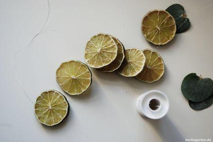 Grün dazu: Limetten auffädeln