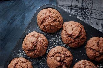 Die Grundlage sind Schoko-Zimt-Muffins