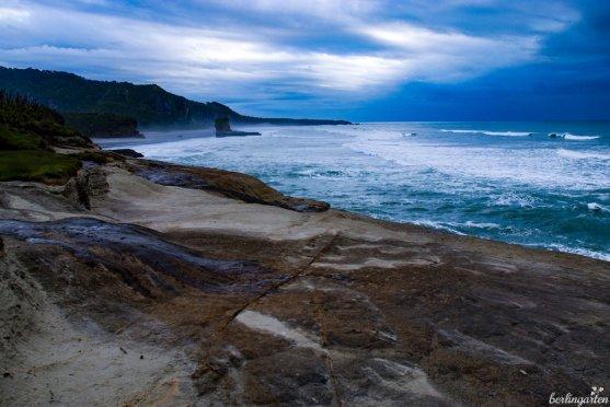 Westküste par excellence: In Punakaiki zeigt sich der Pazifik rau und wild