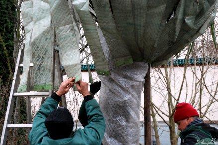 Die Gärtner verschließen Winterschutz - Tschüß bis März!