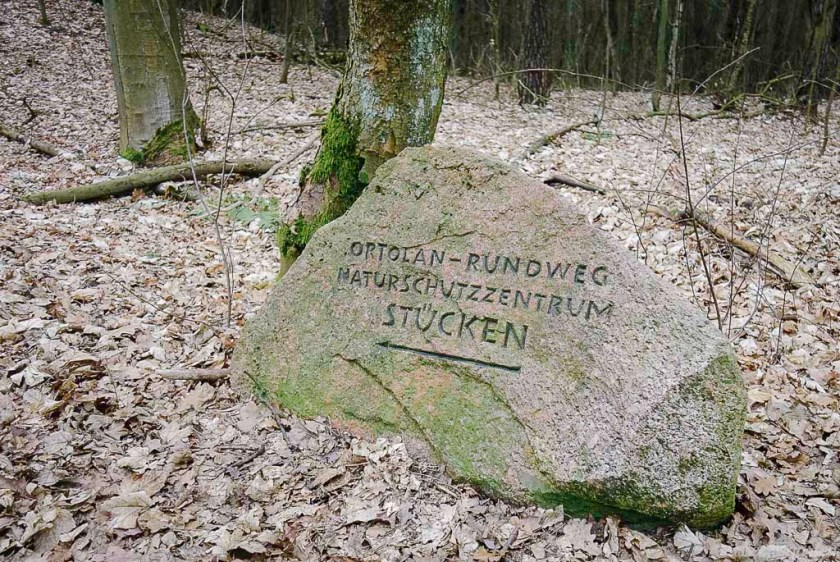 Hinweisschild Naturschutzzentrum Stücken