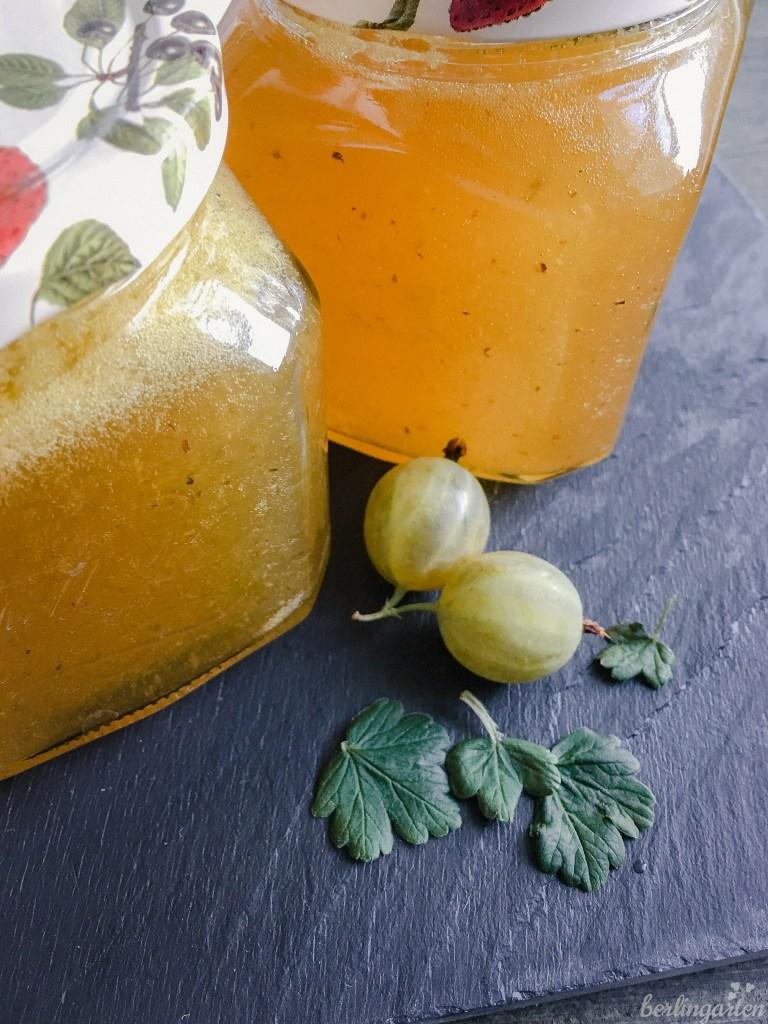 Stachelbeerkonfitüre mit Zitrone und Ingwer