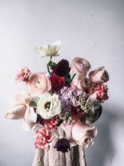 Strauß Ranunkeln, Rosen, rosa Frühling
