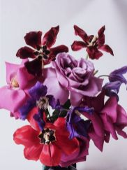 Strauß Rosen, Tulpen & Clematis