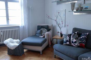 Mein Wohnzimmer mit einem Frühlingsgruß