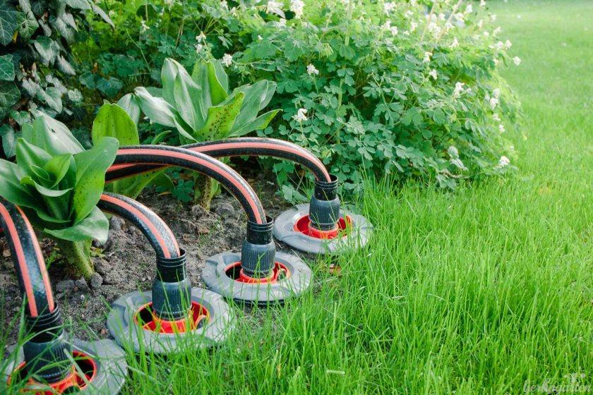 Automatische Rasenbewässerung