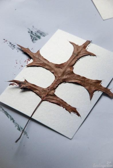Eichenblattdruck