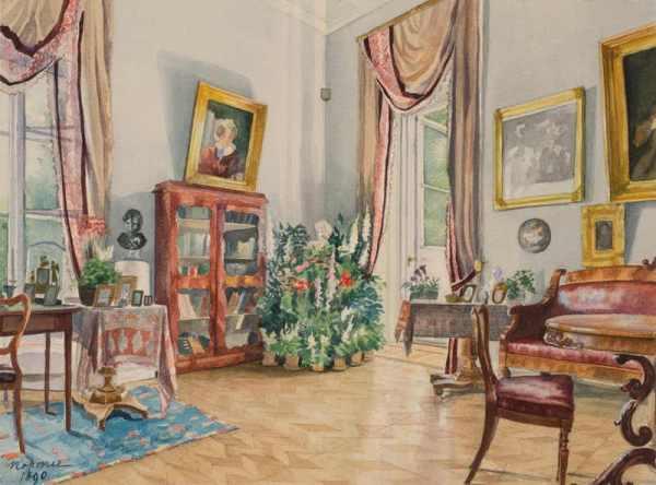 Интерьер в русской графике XIX начала XX века