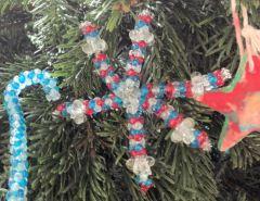 Selbstgebastelte Weihnachtsbaumdeko
