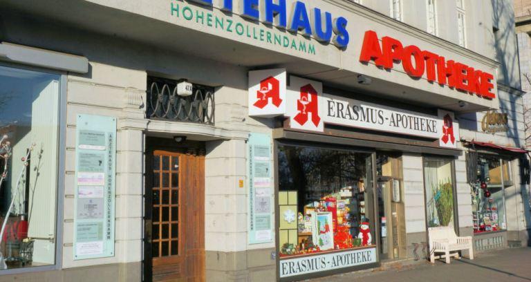 Erasmus Apotheke Berlin S-Bahnhof Hohenzollerndamm