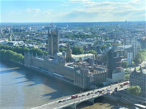 London Eye Blick auf Westminster