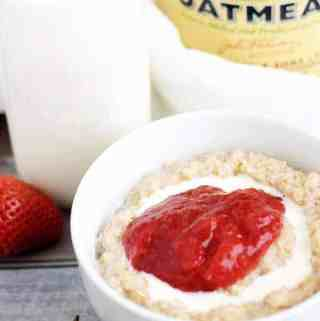 Strawberries and Cream Steel Cut Oatmeal