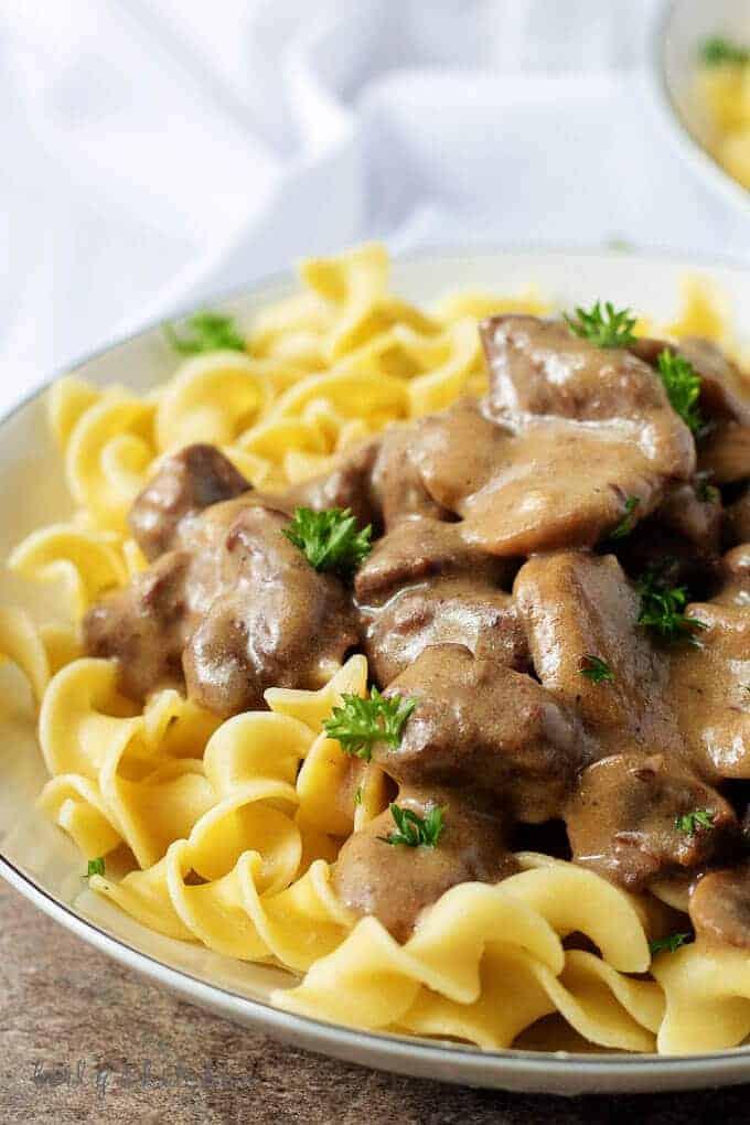 Instant Pot Beef Stroganoff Recipe | Berly's Kitchen