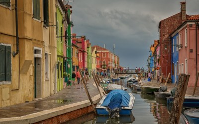 A rainy afternoon in Burano, Venice