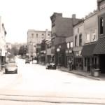 vintage-looking photo of Main Street Carnegie