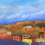 pastel painting of autum scene