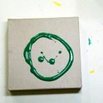 paint on cardboard
