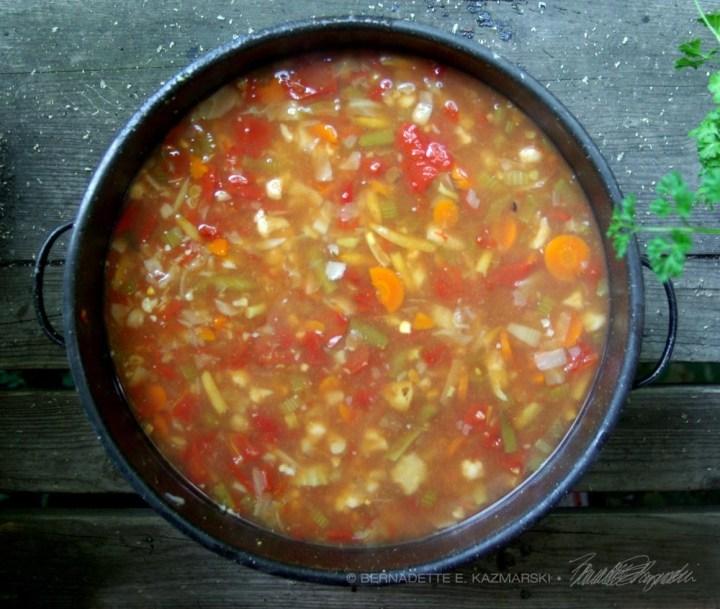 photo of a pot of soup