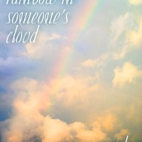 A Rainbow in Someone's Cloud