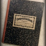 photo of composition book memory of mother