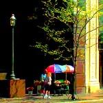 """""""Flower Cart"""", digital image, 12 x 18 © Bernadette E. Kazmarski"""