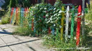 Whimsical fence.