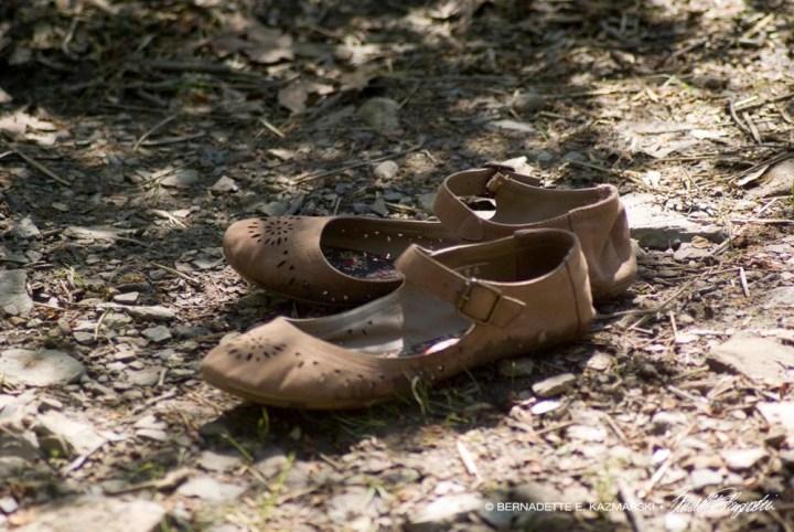 My shoes wait.