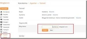 Blogger Blog Adresi ve Adı Nasıl Değiştirilir