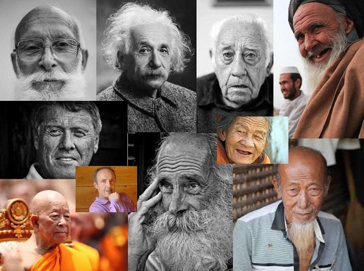 Visages de personnes âgées