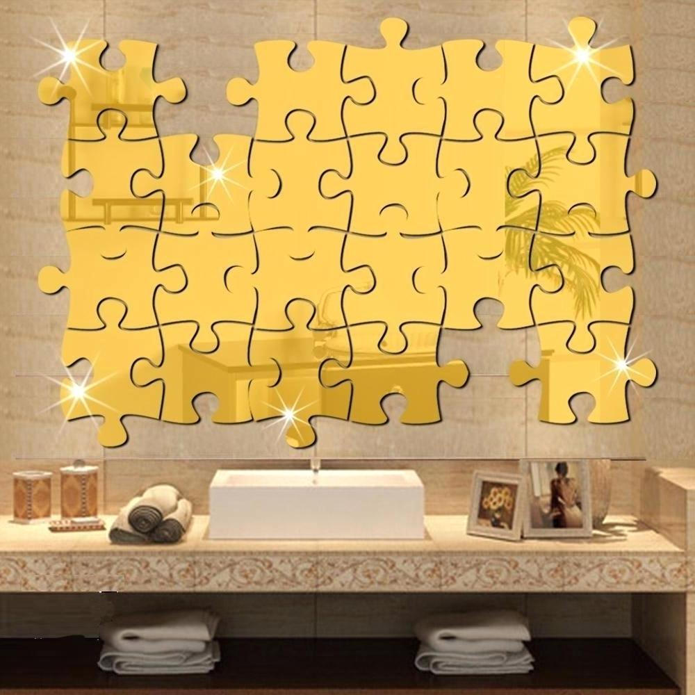 15 Photos Gold Wall Art Stickers