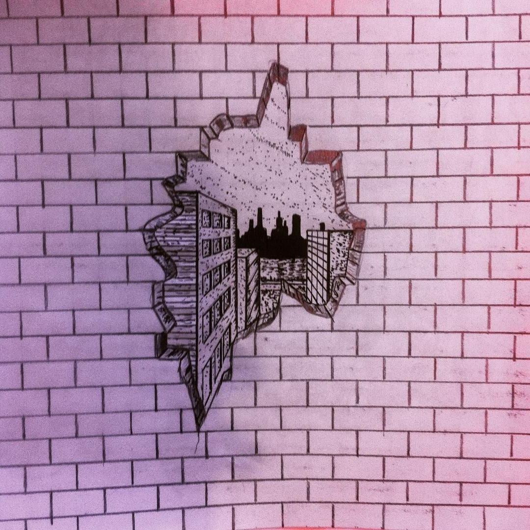 How To Draw A Cracked Brick Wall Pencil Drawing YouTube Art