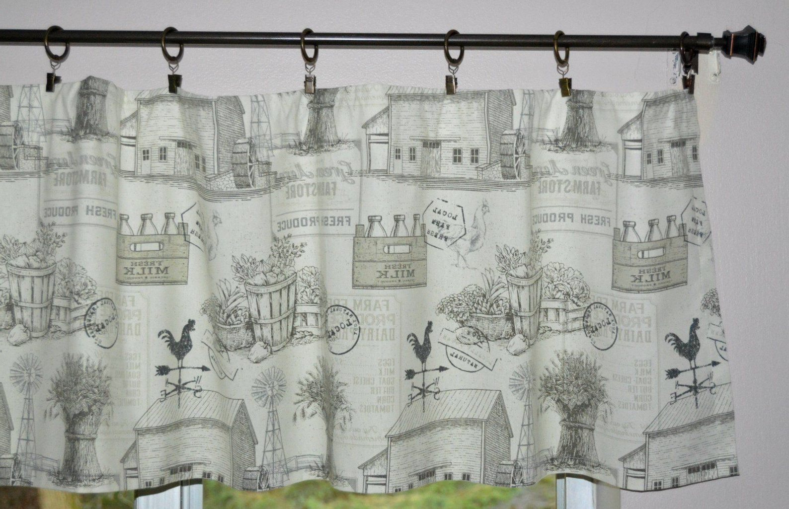 20 ideas of barnyard buffalo check rooster window valances on country farmhouse exterior paint colors 2021 id=92188