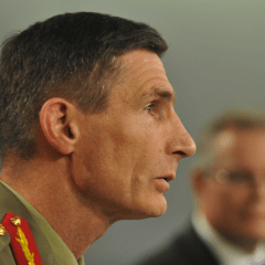 The Chief of Army goes 'on the record' over hat badges and halal