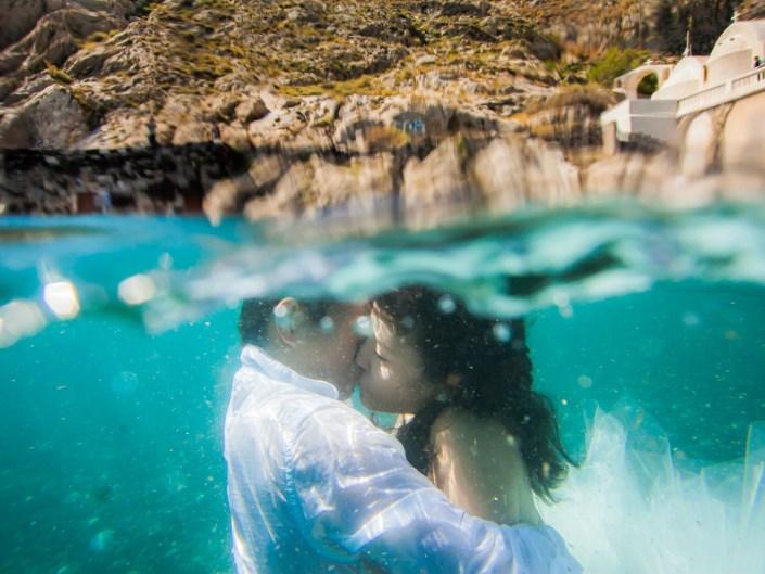 Simon & Jasmine in Santorini